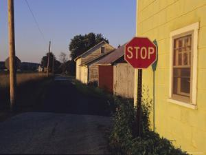 A Stop Sign in a Rural Alley by Raymond Gehman