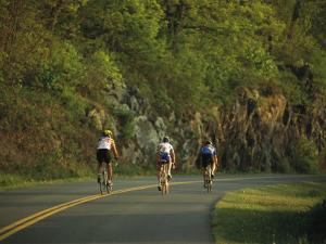 Cycling on the Blue Ridge Parkway by Raymond Gehman