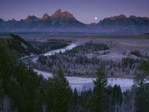 Dawn Strikes the High Ridge of the Teton Range by Raymond Gehman
