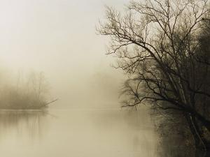 Fog Hovers Above the James River by Raymond Gehman