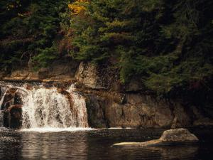 Linville Falls Cascading into a Pool by Raymond Gehman