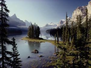Maligne Lake, Which is the Largest and Deepest Lake in Jasper National Park by Raymond Gehman