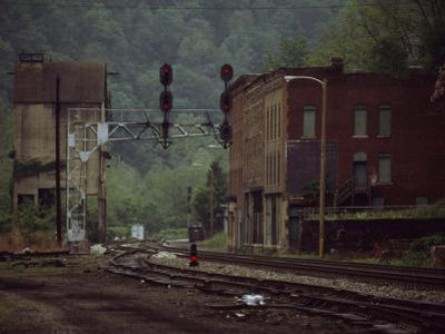 Railroad Junction Through the Old Town of Thurmond, West Virginia by Raymond Gehman