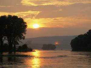 Sunset over the Susquehanna River Near Halifax, Pennsylvania by Raymond Gehman