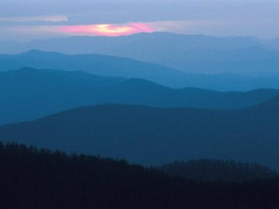 Twilight Covers the Ridges of the Blue Ridge Mountains by Raymond Gehman