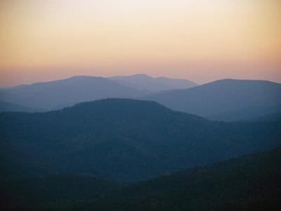Twilight over the Blue Ridge Mountains View from Skyline Drive by Raymond Gehman