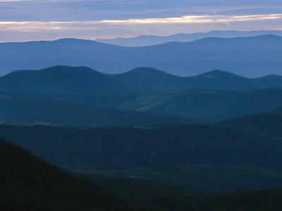 Twilight View of the Blue Ridge Mountains