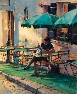 Only a Rose at Cafe Rose by Raymond Leech