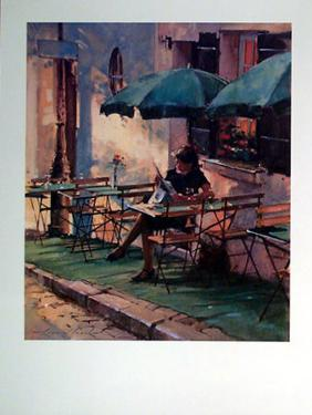 Only a Rose at le Cafe Rose by Raymond Leech