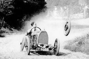 Raymond Mays' Bugatti Loses a Wheel, Early 1930s