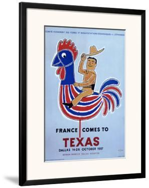 France comes to Texas, 1957 by Raymond Savignac