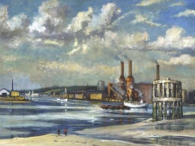 Low Tide, Deptford, 1972 by RCD Lowry