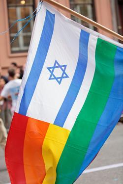 Israel Rainbow Flag by RDStockPhotos