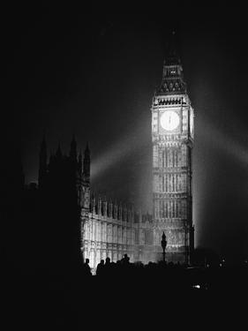 Re-Illumination of Big Ben, V-E Day