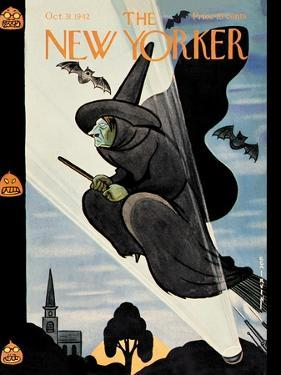 New Yorker Cover - October 31, 1942 by Rea Irvin