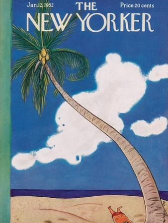 The New Yorker Cover - January 12, 1952 by Rea Irvin