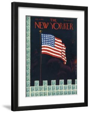 The New Yorker Cover - July 4, 1942 by Rea Irvin