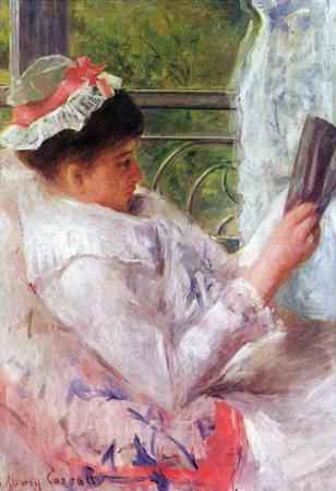 Reading Mrs.Lydia Cassat by Cassat Art Print Poster