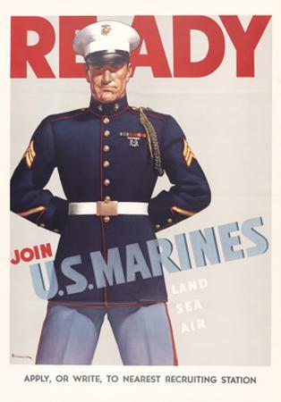 Ready, Marine Corps Recruiting Poster