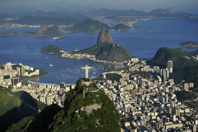 Aerial View of Christ, Sugarloaf, Guanabara Bay, Rio De Janeiro by readytogo