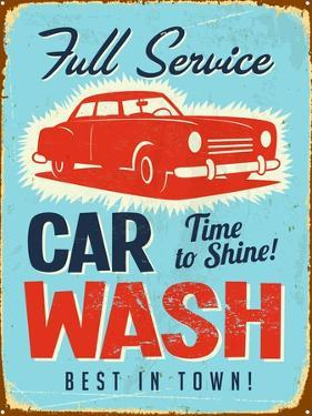Vintage Design -  Car Wash by Real Callahan