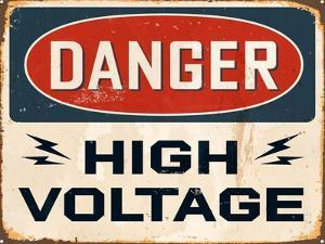 Vintage Design -  Danger High Voltage by Real Callahan