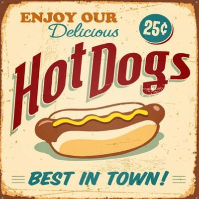 Vintage Design -  Hot Dogs by Real Callahan