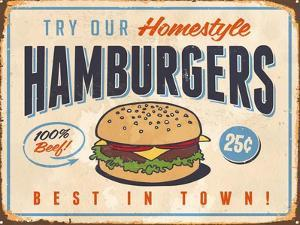 Vintage Try Our Homestyle Hamburgers by Real Callahan