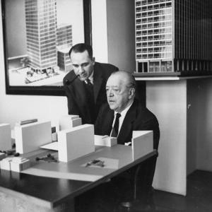Realtor Herbert Greenwald with Architect Mies Van Der Rohe