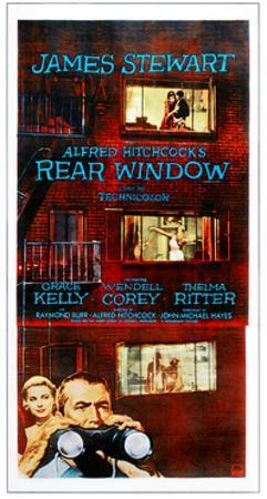 Rear Window, Bottom from Left: Grace Kelly, James Stewart on Poster Art, 1954