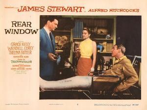 Rear Window, L-R, Wendell Corey, Grace Kelly, James Stewart, 1954