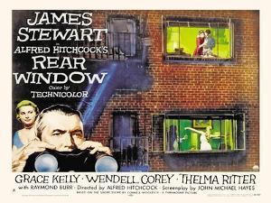 Rear Window, UK Movie Poster, 1954