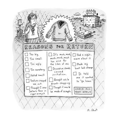 https://imgc.allpostersimages.com/img/posters/reasons-for-return-new-yorker-cartoon_u-L-PGQMYM0.jpg?artPerspective=n