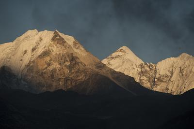 Smoke From A Village Home Passes Over The Mountains In Dingboche Nepal