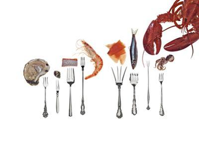 Various Forks Used for Oysters, Shrimp, Sardines, Snails and Lobster by Rebecca Hale