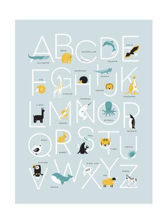 Blue Alphabet
