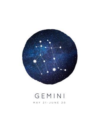 Gemini Zodiac Constellation by Rebecca Lane
