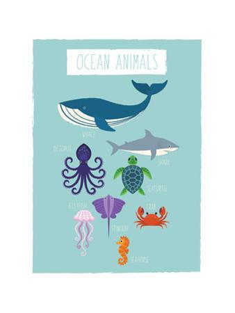 Ocean Animal Print by Rebecca Lane
