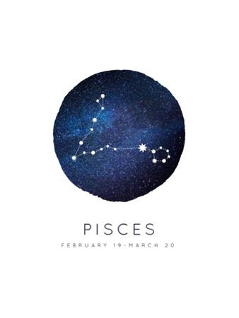 Pisces Zodiac Constellation by Rebecca Lane