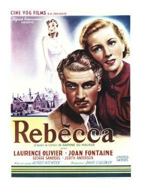 Rebecca, Laurence Olivier, Joan Fontaine on Belgian Poster Art, 1940