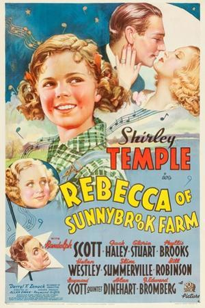 REBECCA OF SUNNYBROOK FARM, Phyllis Brooks, Shirley Temple, Randolph Scott, Gloria Stuart, 1938,