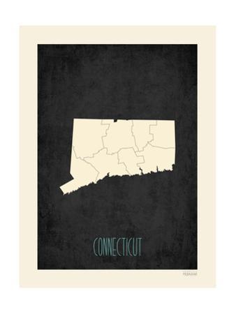 Black Map Connecticut