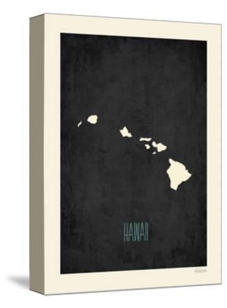 Black Map Hawaii by Rebecca Peragine