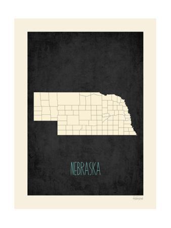 Black Map Nebraska