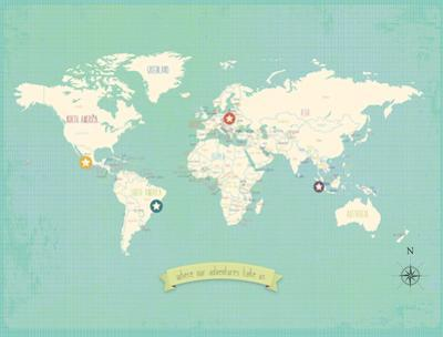 World My Travels Map (includes stickers) by Rebecca Peragine