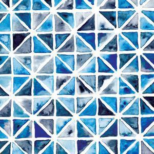 Triangles In Blue by Rebecca Prinn