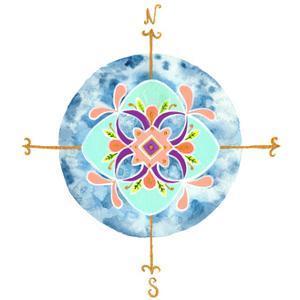 Blue Mandala II by Rebekah Ewer