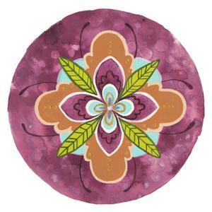Maroon Mandala I by Rebekah Ewer