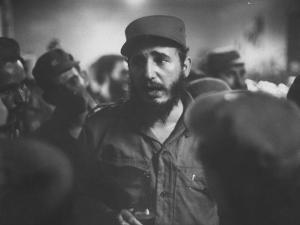 Rebel Leader Fidel Castro During His Victorious March to Havana