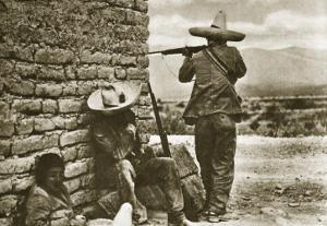 Rebel Snipers Attacking the City of Juarez, 10th May 1911